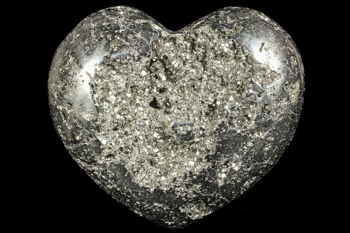 "5.6"" Polished Pyrite ""Heart"" - Peru"