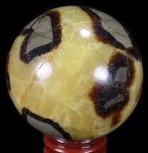 "2.4"" Polished Septarian Sphere - Madagascar For Sale, #67859"