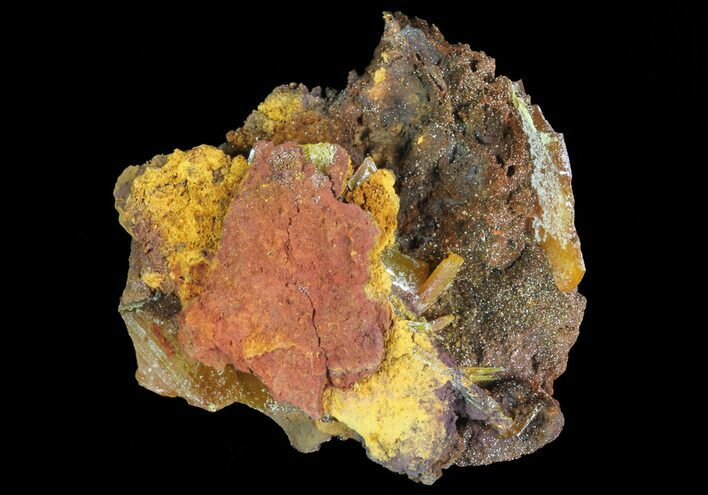 "1.3"" Wulfenite Crystals on Matrix - Mexico"