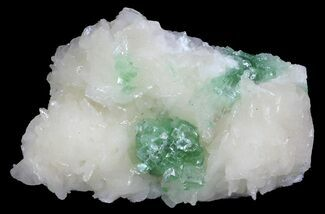 "Buy 3.1"" Green Apophyllite Flower on Peach Stilbite - India - #65731"