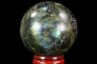 "2"" Flashy Labradorite Sphere - Great Color Play For Sale, #71810"