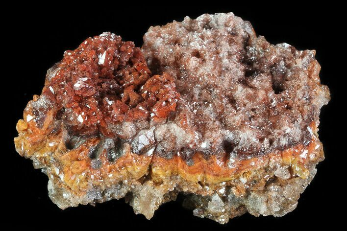 "2.8"" Red Calcite Crystal Cluster - Mexico"