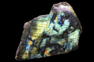 "6.5"" Wide, Flashy, Polished Labradorite - Madagascar For Sale, #72563"
