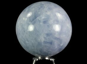 "3"" Polished Blue Calcite Sphere - Madagascar For Sale, #74435"