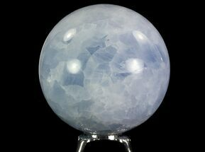 "3"" Polished Blue Calcite Sphere - Madagascar For Sale, #74438"
