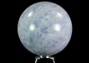 "Buy 3.4"" Polished Blue Calcite Sphere - Madagascar - #74440"