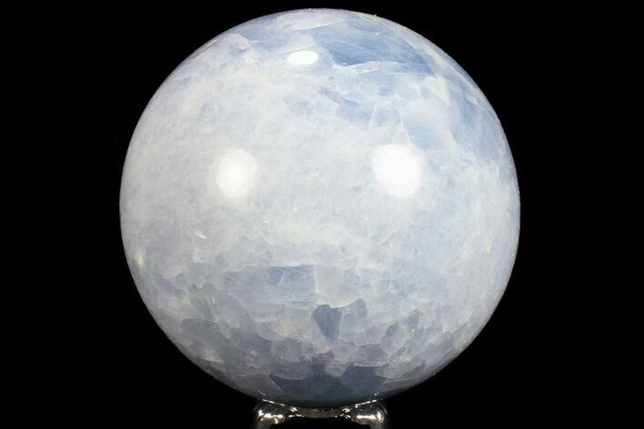 "3.45"" Polished Blue Calcite Sphere - Madagascar (Special Price)"
