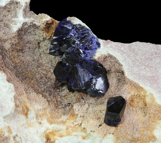 Large, Vibrant Azurite Crystals In Matrix - Morocco (Reduced Price)