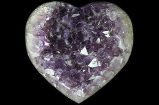 "3.35"" Purple Amethyst Crystal Heart - Uruguay For Sale, #76793"