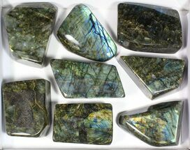 Wholesale Lot: 20 Lbs Free-Standing Polished Labradorite - 8 Pieces For Sale, #77657