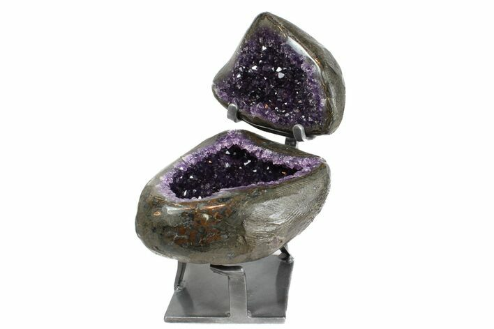 "8"" Amethyst ""Jewelry Box"" Geode On Stand - Gorgeous"