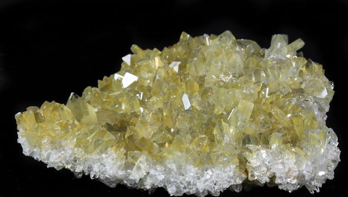 "4.2"" Plate Of Gemmy, Chisel Tipped Barite Crystals - Mexico"