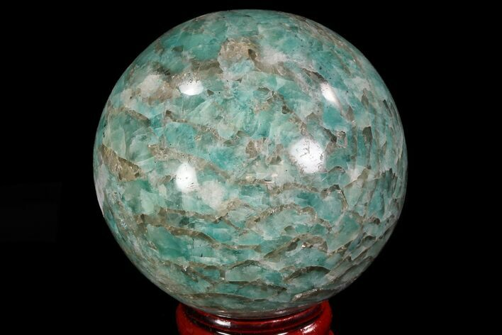 "2.2"" Polished Amazonite Crystal Sphere - Madagascar"