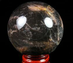 "Polished 2.1"" Black Moonstone Sphere - Madagascar For Sale, #78923"