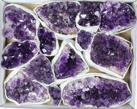 Wholesale Lot: Uruguay Amethyst Clusters (Grade B) - 14 Pieces For Sale, #79400