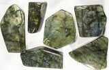 Wholesale Lot: 25 Lbs Free-Standing Polished Labradorite - 12 Pieces - #78028-1