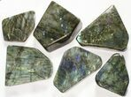 Wholesale Lot: 25 Lbs Free-Standing Polished Labradorite - 12 Pieces - #78028-2