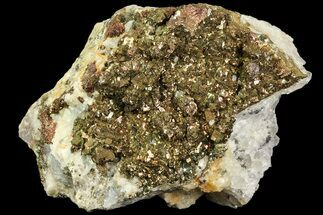 "3.6"" Pyrite On Calcite & Quartz - El Hammam Mine, Morocco For Sale, #80357"