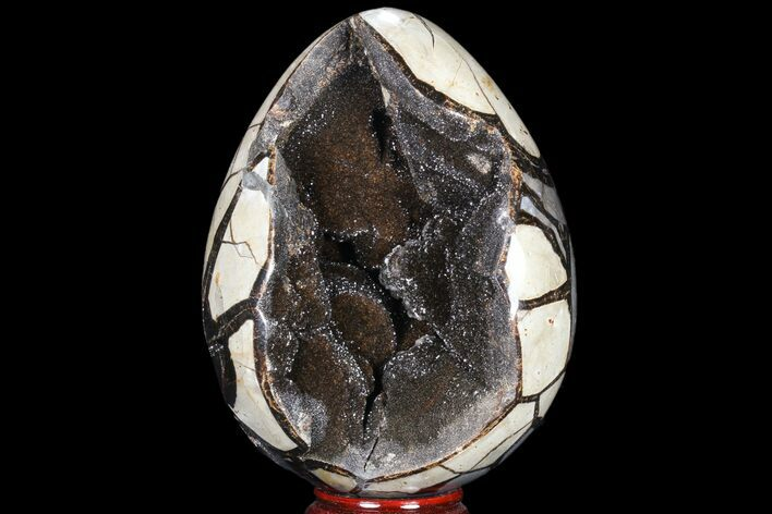 "8.5"" Septarian ""Dragon Egg"" Geode - Sparkly Crystal Pocket"