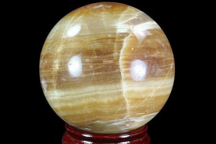 "3.3"" Polished, Brown Calcite Sphere - Madagascar"