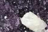 "13.5"" Amethyst Cluster With Calcite - Metal Stand - #81864-1"
