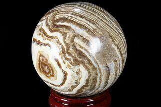 "3.1"" Polished, Banded Aragonite Sphere - Morocco For Sale, #82301"