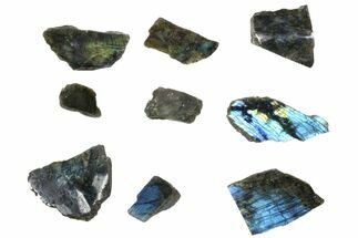 Buy Wholesale: 1kg One Side Polished Labradorite - 9 Pieces - #84532