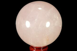 "Buy 3.8"" Polished Rose Quartz Sphere - Madagascar - #87697"