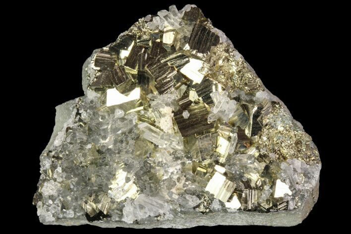 "2"" Quartz Crystal Cluster With Gleaming Pyrite - Peru"