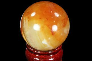 "2.1"" Colorful Carnelian Agate Sphere For Sale, #88850"