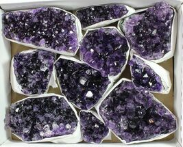 Buy Wholesale Lot: Uruguay Amethyst Clusters (Grade A) - 10 Pieces - #90127