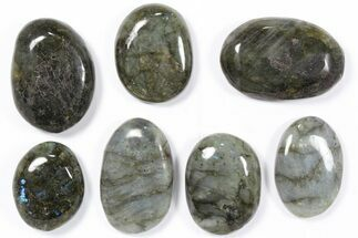 Wholesale Box: Polished Labradorite Pebbles - 1 kg (2.2 lbs) For Sale, #90380