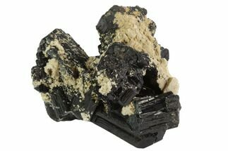 Tourmaline var. Schorl & Feldspar - Fossils For Sale - #90681