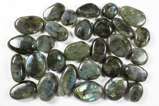 Buy Lot: Polished Labradorite Pebbles - 1 kg (2.2 lbs) - #90490
