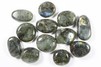 Buy Lot: Polished Labradorite Pebbles - 1 kg (2.2 lbs) - #90532