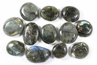 Buy Lot: Polished Labradorite Pebbles - 1 kg (2.2 lbs) - #90523