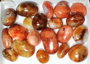 Wholesale Lot: Polished Carnelian Pebbles - 5 kg (11 lbs) For Sale, #91448