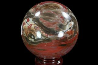 "Buy 3.3"" Colorful Petrified Wood Sphere - Madagascar - #92395"