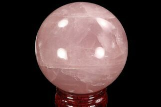 "Buy 2.6"" Polished Rose Quartz Sphere - Madagascar - #93010"