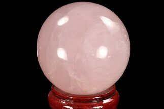 "3.9"" Polished Rose Quartz Sphere - Madagascar For Sale, #93020"