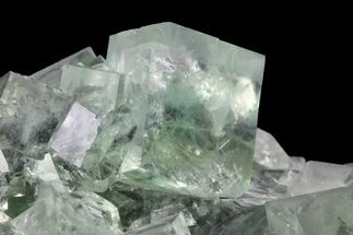 "Buy 5.5"" Green Cubic Fluorite and Calcite Crystal Cluster - Fluorescent! - #93658"