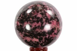 "Buy Beautiful, 2.55"" Rhodonite Sphere - Madagascar - #95050"