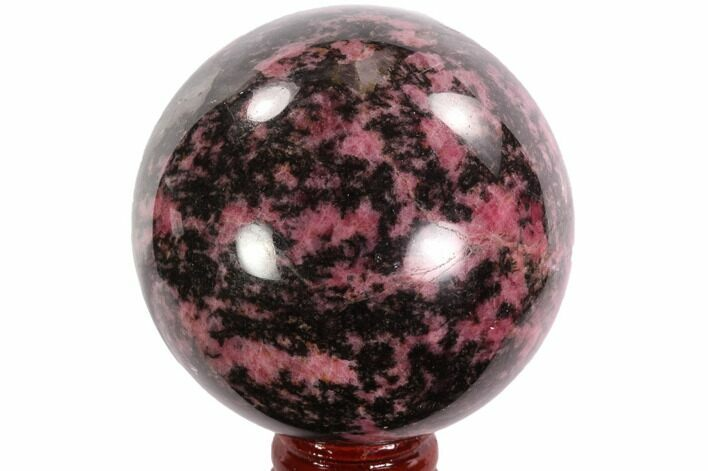 "Beautiful, 2.55"" Rhodonite Sphere - Madagascar"
