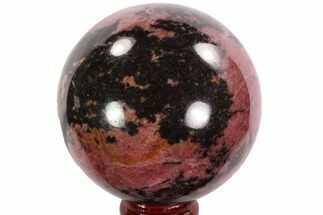 Rhodonite with Manganese Oxide - Fossils For Sale - #95052