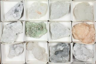 Buy Mixed Indian Mineral & Crystal Flat - 12 Pieces - #95593