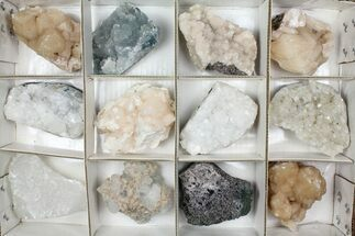 Buy Mixed Indian Mineral & Crystal Flat - 12 Pieces - #95599