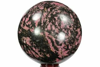 "Buy Huge, 6.4"" Rhodonite Sphere - Madagascar - #95968"