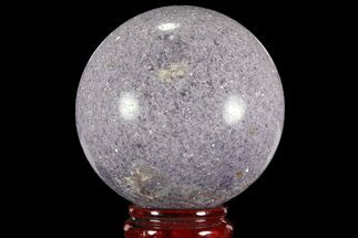 "3.95"" Sparkly, Purple Lepidolite Sphere - Madagascar For Sale, #94085"