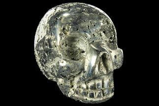 "2.7"" Polished Pyrite Skull With Pyritohedral Crystals - Peru For Sale, #96326"