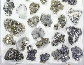 Buy Wholesale Flat - Pyrite, Galena, Quartz, Etc From Peru - 32 Pieces - #96982